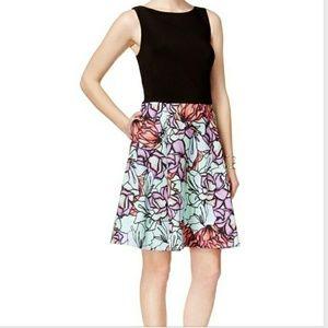 SLNY Black & Floral Dress Retail $79